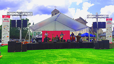 memphis outdoor stage rental