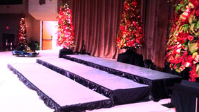 choir riser rental in Memphis, TN