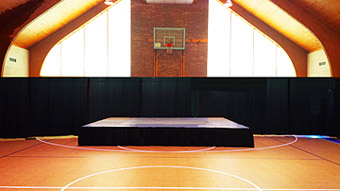 event rentals, pipe and drape and stage rental