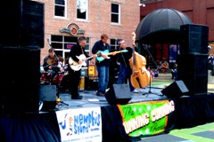 Memphis marathon band staging at AutoZone Park