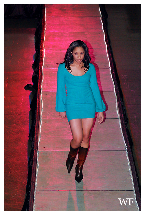 modeling runway stages skirted in Memphis
