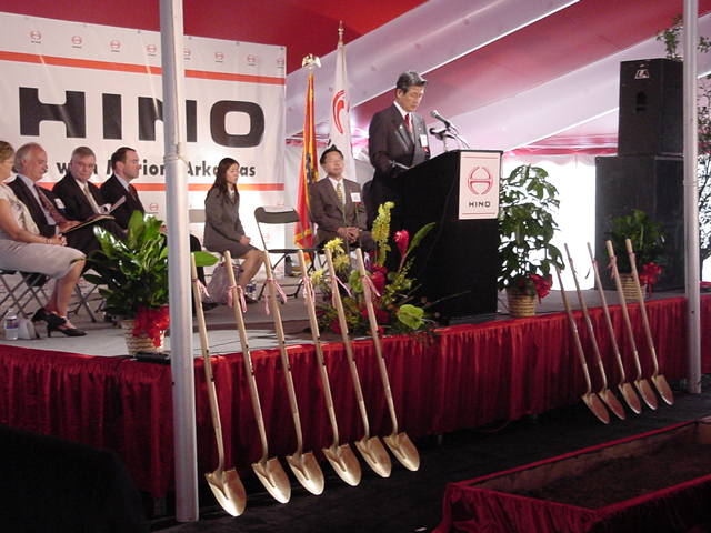 stage rental for corporate groundbreaking